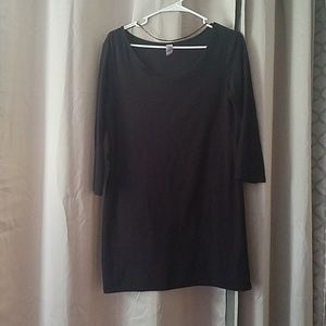 Black super soft tunic dress